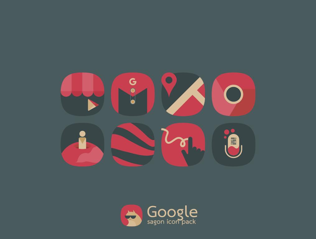 Sagon Icon Pack: Dark UI  poster 6