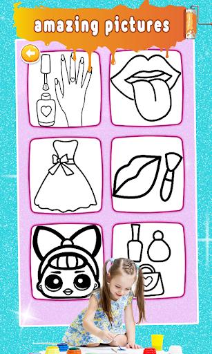 Glitter Nail Drawing Book and Coloring Game 5.0 Screenshots 2