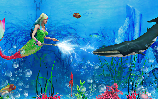 Mermaid Simulator 3D - Sea Animal Attack Games  screenshots 6