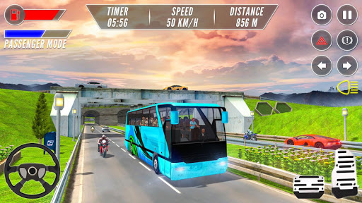 Modern Bus Drive Simulator - Bus Games 2021 android2mod screenshots 4