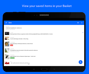 Basket - Bookmark Organizing and Read Later app Screenshot