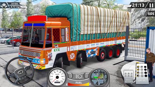 Real Mountain Cargo Truck Uphill Drive Simulator apktram screenshots 4