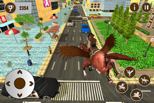 Flying Horse Taxi City Transport: Horse Games 2020 apkdebit screenshots 15