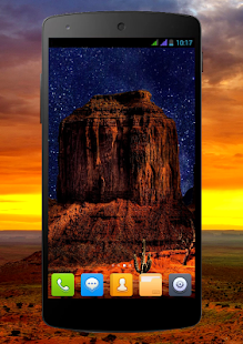 Beautiful Desert Night Live Wallpaper
