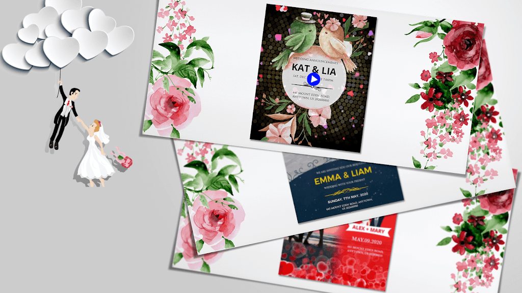 Wedding Card Design & Photo Video Maker With Music  poster 5