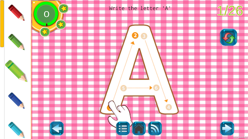tracing letters and numbers - preschool free game screenshot 2