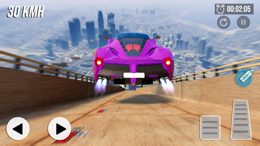 Crazy Car Stunts - Mega Ramp androidhappy screenshots 2