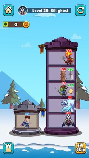 Hero Tower Wars - Math Puzzle  screenshots 2
