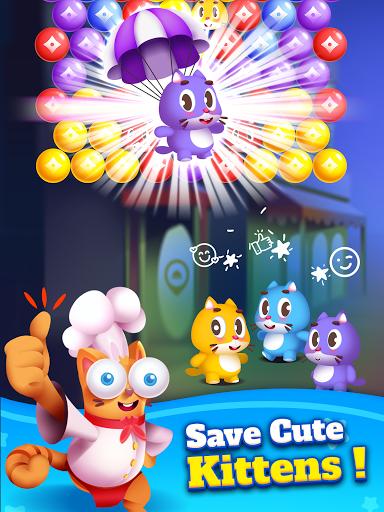 Kitten Games - Bubble Shooter Cooking Game apkmr screenshots 12