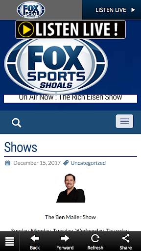 Fox Sports Shoals WSBM-FM screenshots 3