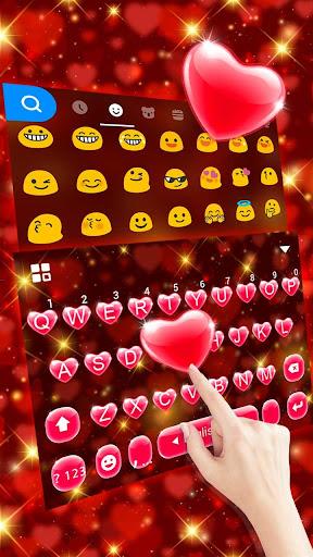 Red Heart Keyboard Theme 2.3 Screenshots 2