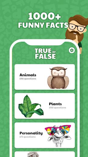 True or False Quiz app - Is That True? screenshots 1