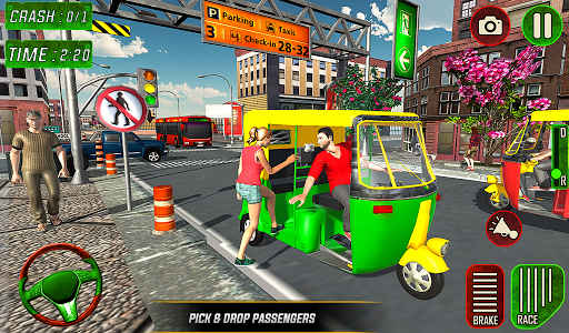 Tuk Tuk Auto Rickshaw Driver 2019:City Parking 1.5 screenshots 15