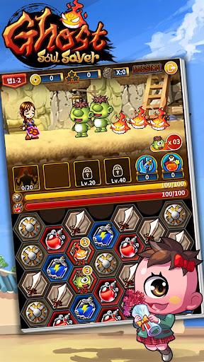 Télécharger Gratuit Ghost Soul Saver Puzzle RPG APK MOD (Astuce) screenshots 1