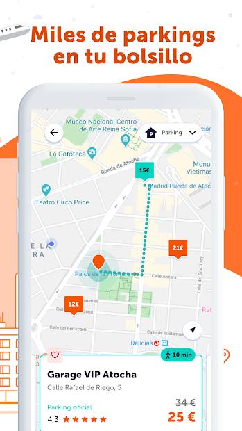 Screenshot 3 de Parquimetro Madrid, Barcelona y Parking: Parclick para android