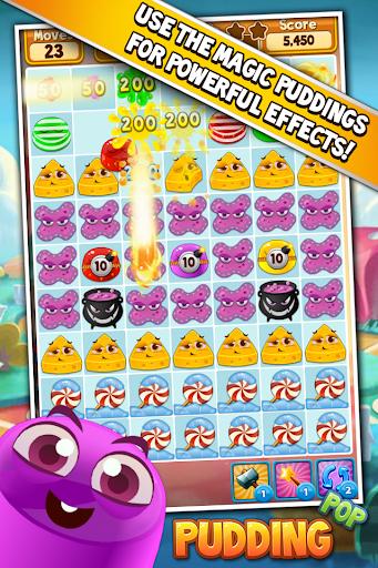 Pudding Pop - Connect & Splash Free Match 3 Game screenshots 2