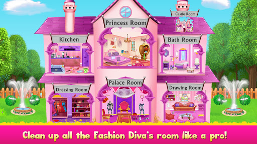 Cleaning games Kids - Clean Decor Mansion & Castle 8.1 screenshots 1