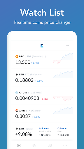 coinmanager- bitcoin, ethereum, ripple finance app screenshot 2