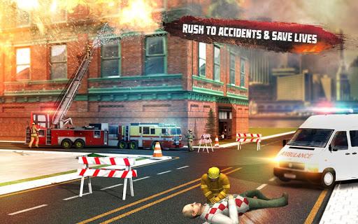 ud83dude92 Rescue Fire Truck Simulator: 911 City Rescue  screenshots 13