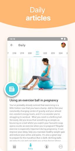 Pregnancy + | tracker app, week by week in 3D apktram screenshots 3