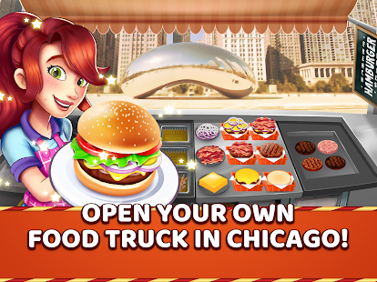 Burger Truck Chicago - Fast Food Cooking Game Screenshot
