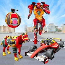 Angry Fox Robot City War : Formula Car Robot Games APK