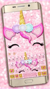 Glisten Unicorn Pinky Keyboard Theme 1.0 Download APK Mod 1