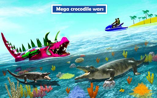 Crocodile Robot Car Transforming Mega Robot Games apkdebit screenshots 6
