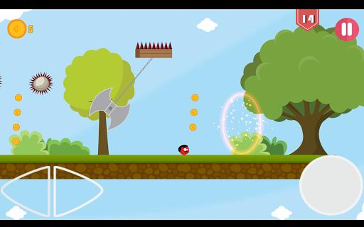 Super Red Jump Ball Mr Mustache 2.3 screenshots 15