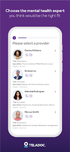 Teladoc | Online Doctors, Therapy & Nutrition 4.7 Screenshots 14