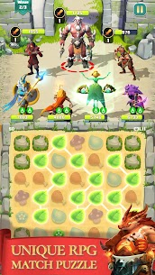 Match & Slash: Fantasy RPG Puzzle MOD APK 1.0.1 (ADS Free) 1