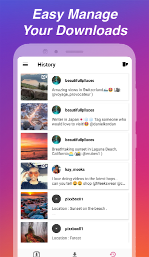Downloader for Instagram - Repost & Multi Accounts apktram screenshots 7
