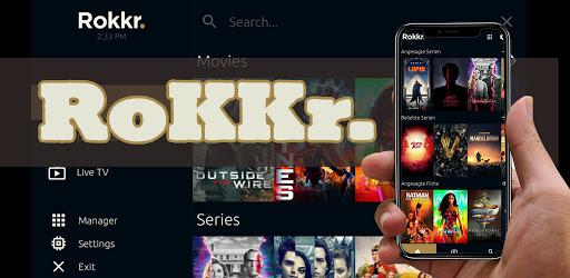 RoKKr TV App Guide screen 0