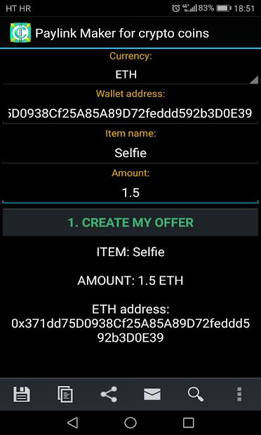 PayLink Maker for crypto currency coins screenshot 16