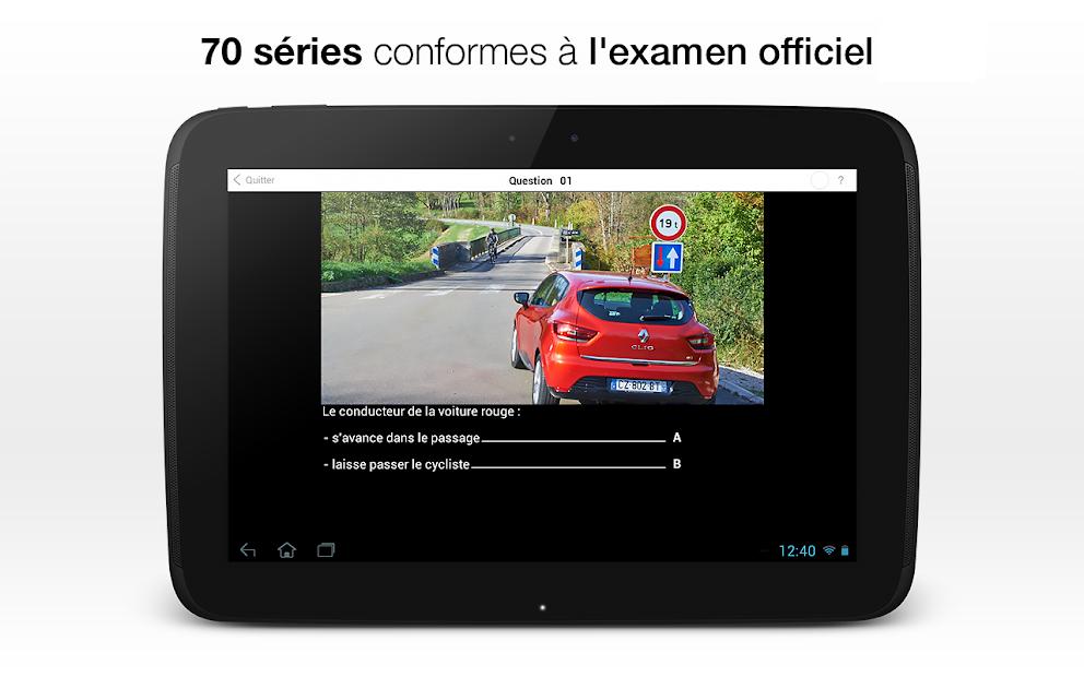 Code de la route 2020 Android App Screenshot