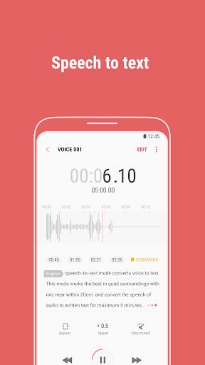 Foto do Samsung Voice Recorder