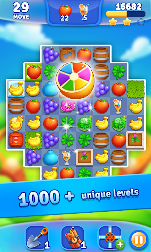 Fruits Garden - Match 3 Game APK MOD – Pièces Illimitées (Astuce) screenshots hack proof 2