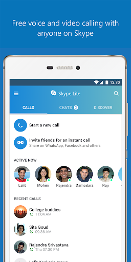 Skype Lite - Free Video Call & Chat 1.84.76.1 Screenshots 2