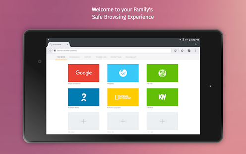 SPIN Safe Browser: Best Filtered Website Browser Screenshot