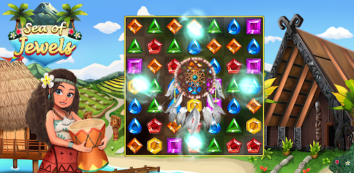 Sea of Jewels : Aloha ! Match3 puzzle modavailable screenshots 2