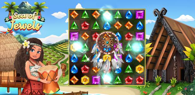 Sea of Jewels : Aloha ! Match3 puzzle 2