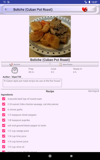 ufeffAmerica and Caribbean Food Recipes 2.0 screenshots 13
