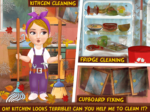 Messy House Cleanup Girls Home Cleaning Activities modavailable screenshots 5