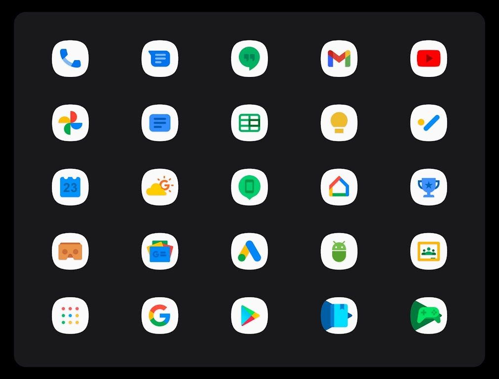 OneUI 3 White - Icon Pack  poster 13