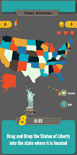 USA Map Quiz Game 1 APK + Mod (Free purchase) for Android