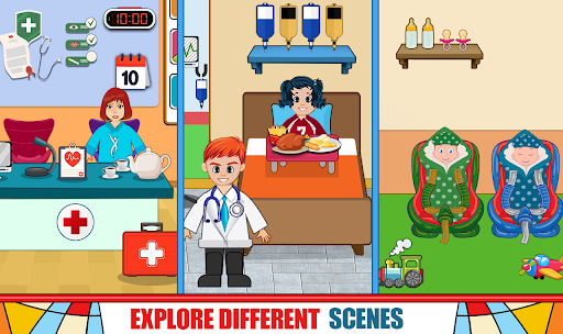 Pretend Hospital Doctor Care Games : My Life Town  screenshots 1
