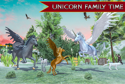 Flying Unicorn Horse Family Jungle Survival android2mod screenshots 5