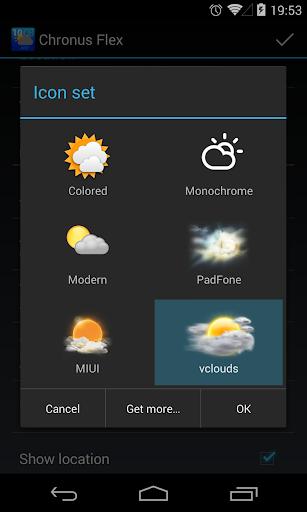 chronus: vclouds weather icons screenshot 2