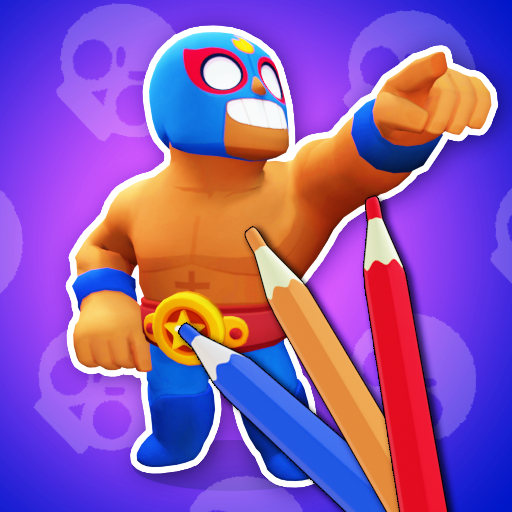 3D coloring BS brawl stars