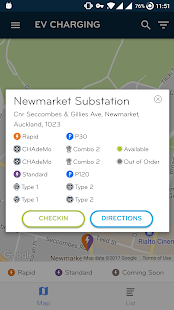 EV Charging Screenshot